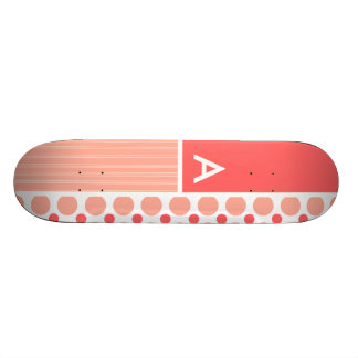 Pois rose et de corail, points plateau de planche à roulettes