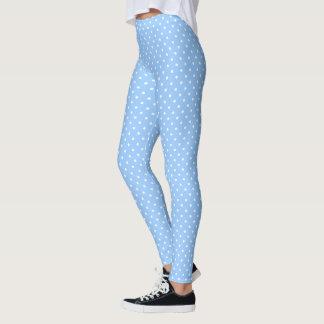 Pois sur des bleus layette leggings