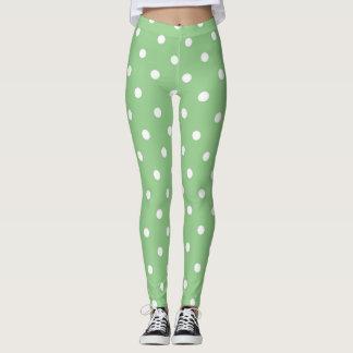 Pois vert d'Apple Leggings