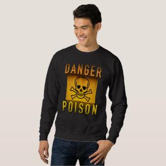 Poison de danger avertissant la rétro grunge d'ère sweatshirt