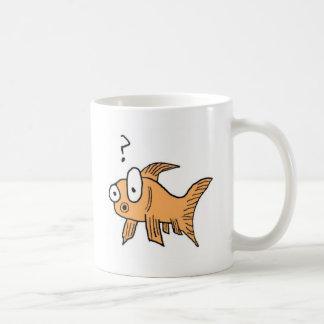 Poisson rouge confus mug blanc