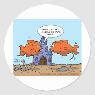 Bocal poissons autocollants stickers bocal poissons for Bocal poisson rond