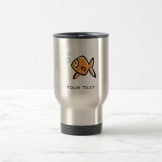 Poisson rouge grunge mug