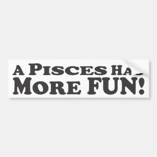 Poissons a plus d'amusement ! - Adhésif pour pare- Autocollant Pour Voiture