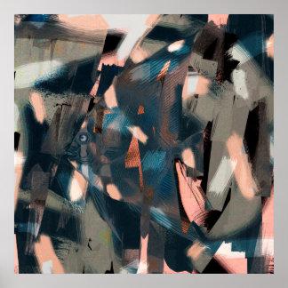 Poissons abstraits avec le recouvrement incisif poster