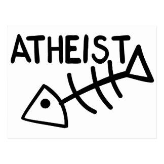 Poissons athées carte postale