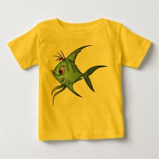 Poissons bleus de guppy t-shirt pour bébé