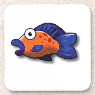 poissons bleus oranges sous-bocks