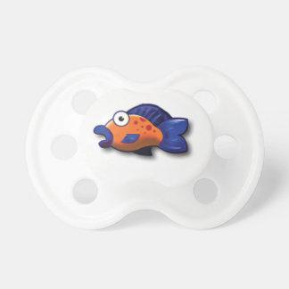 poissons bleus oranges tétine pour bébé