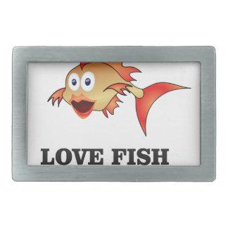 poissons d'amour boucle de ceinture rectangulaire