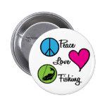 Poissons d'amour de paix badges avec agrafe