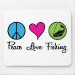 Poissons d'amour de paix tapis de souris