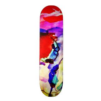 Poissons d'arc-en-ciel d'art abstrait d'enfants en skateboards personnalisés