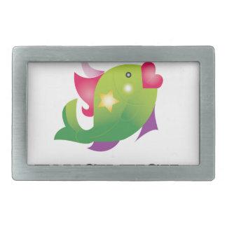 poissons de fantaisie femelles boucles de ceinture rectangulaires