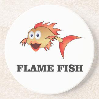 poissons de flamme dessous de verre