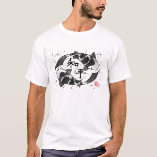 Poissons de Koi avec le T-shirt de caractère de
