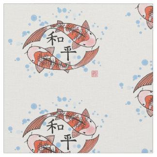 Poissons de Koi avec le tissu de motif de