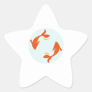 Poissons de Koi Sticker En Étoile