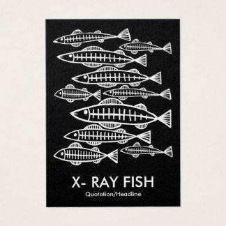 POISSONS de RAYON X - noir (platine) Cartes De Visite