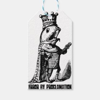 Poissons de roi :  Erreur par proclamation Étiquettes-cadeau