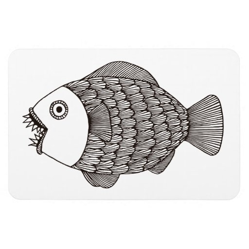 Poissons effrayants magnets rectangulaires