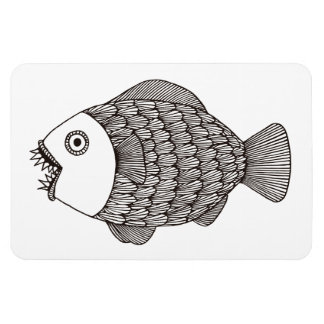 Poissons effrayants magnets rectangulaire