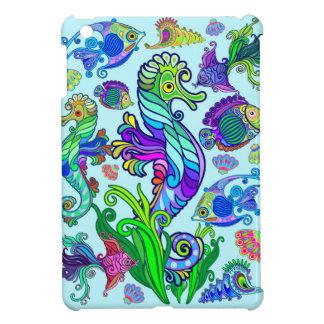 Poissons et hippocampes exotiques d'espèce marine coques pour iPad mini