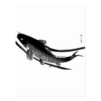 Poissons japonais cartes postales