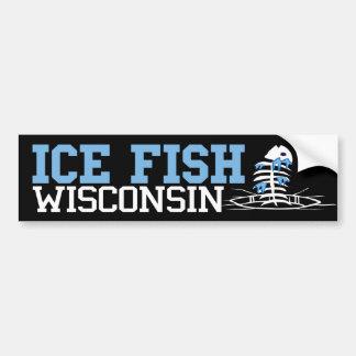 Poissons le Wisconsin de glace Autocollant Pour Voiture