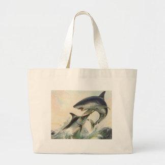 Poissons - Marlin noir et requin de Mako Grand Sac