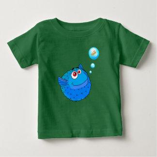 Poissons mignons de décolleur t-shirt pour bébé