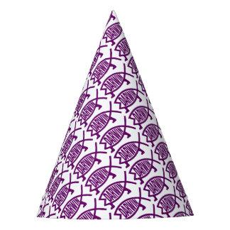 Poissons originaux de Darwin (violets) Chapeaux De Fètes