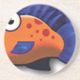 poissons repérés dessous de verres