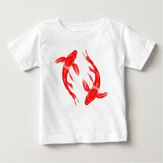 Poissons rouges de Koi T-shirt Pour Bébé