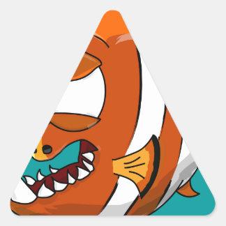 poissons sticker triangulaire