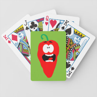 Poivre de piment d'un rouge ardent criard jeu de cartes