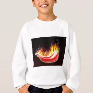 Poivre de piments rouges chaud flamboyant sweatshirt