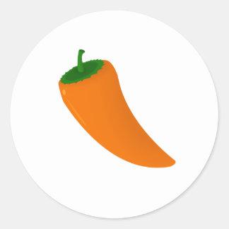 Poivre orange sticker rond