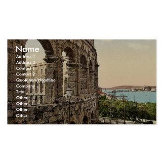 Pola, l'arène, avec la vue de la mer, Istria, Aus Modèles De Cartes De Visite