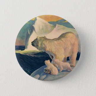 Polaire vintage concerne l'iceberg, animal badge