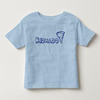 Police bleue d'école de T-shirt d'enfant en bas