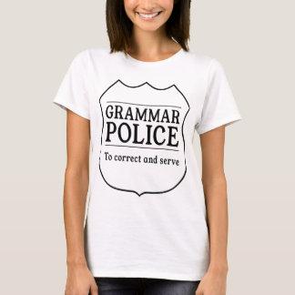 Police de grammaire t-shirt