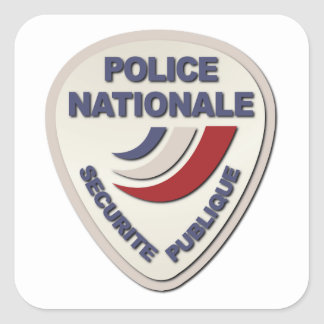 Police de Nationale France de police sans texte Sticker Carré