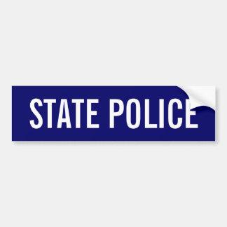 POLICE d'ÉTAT - emblème blanc de logo Autocollant Pour Voiture
