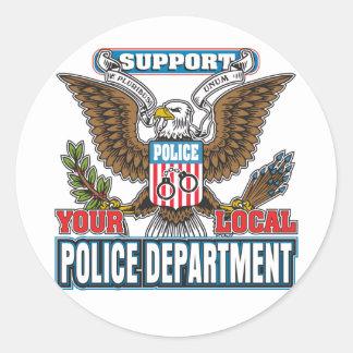 Police locale de soutien sticker rond