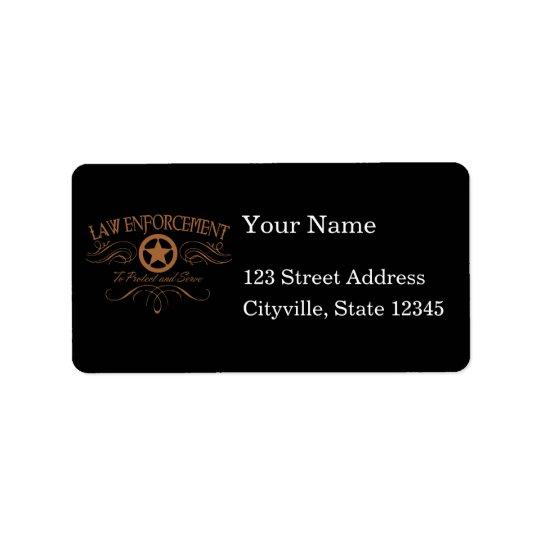 Police occidentale étiquette d'adresse