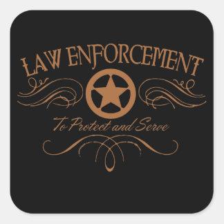 Police occidentale sticker carré