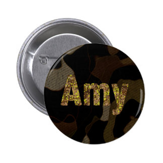 Police personnalisée Amy de camouflage de Badge