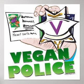 Police végétalienne affiche