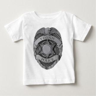 Police végétalienne t-shirt pour bébé